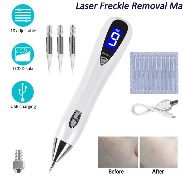 Laser Freckle Removal Machine Skin Mole Dark Spot Face Wart Tag Remover Pen Walmart Com Walmart Com