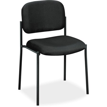 basyx VL606 Series Stacking Armless Guest Reception Waiting Room Chair, Black (Stacking Guest Chair)