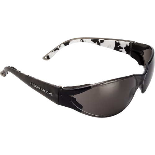 Chase Ergonomics Body Glove V-Line Safety Glasses, Smoke Lens and Black Frame
