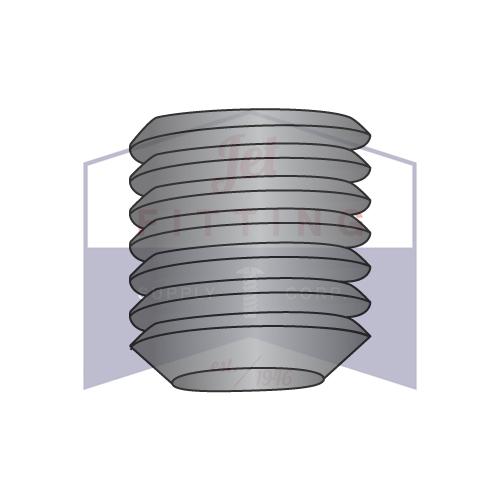 6-32 x 1/8 Flat Point Socket Set Screws | Alloy Steel | Coarse Thread | Metric | ISO 4026 | DIN913 Black Oxide (Quantity: 50)