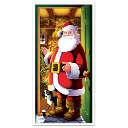 The Holiday Aisle Santa Door Mural