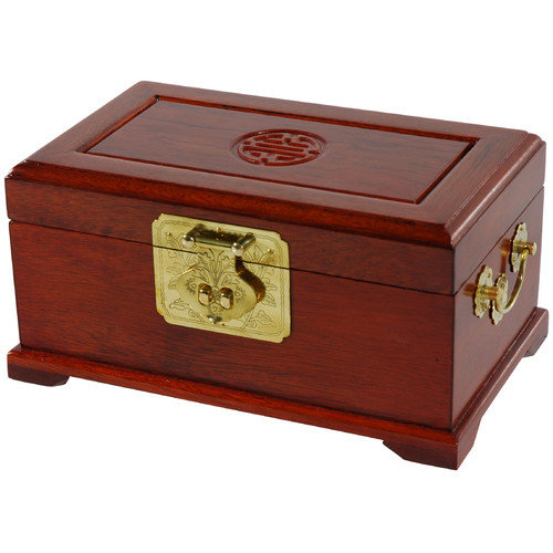 Oriental Furniture Rosewood Jewelry Box