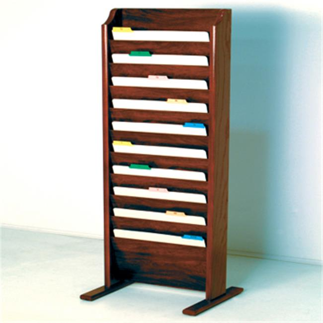 Wooden Mallet CH17-FSMH Free Standing 10 Pocket Legal Size File Holder in Mahogany