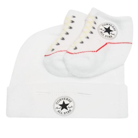Converse - Converse Baby Hat and Bootie Gift Set (White 70df6789aa