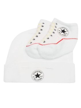 dbf2d9646642 Product Image Converse Baby Hat and Bootie Gift Set (White