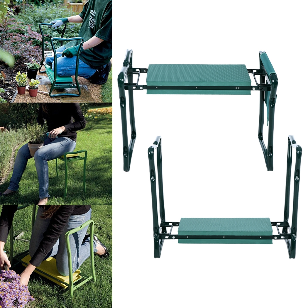 Garden Kneeling Bench High Quality Foldable Kneeler Seat With Tool Pouch And Eva Pad Handles For E In Design Ideas