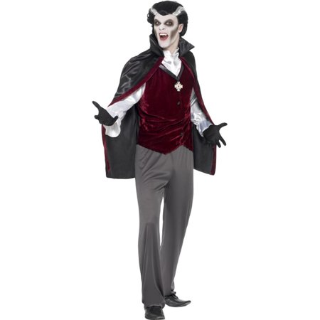 Adults Men's Classic Medieval Vampire Count Dracula Costume Large 42-44](Kids Dracula Costumes)