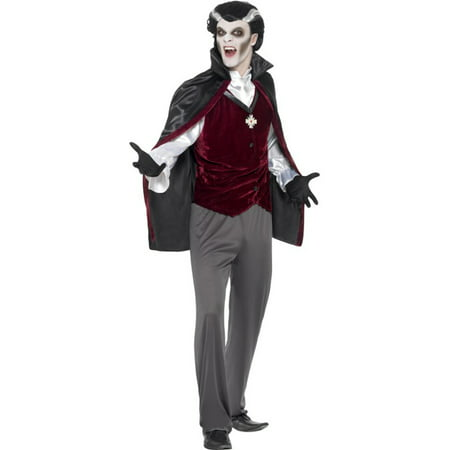 Adults Men's Classic Medieval Vampire Count Dracula Costume Large 42-44 for $<!---->
