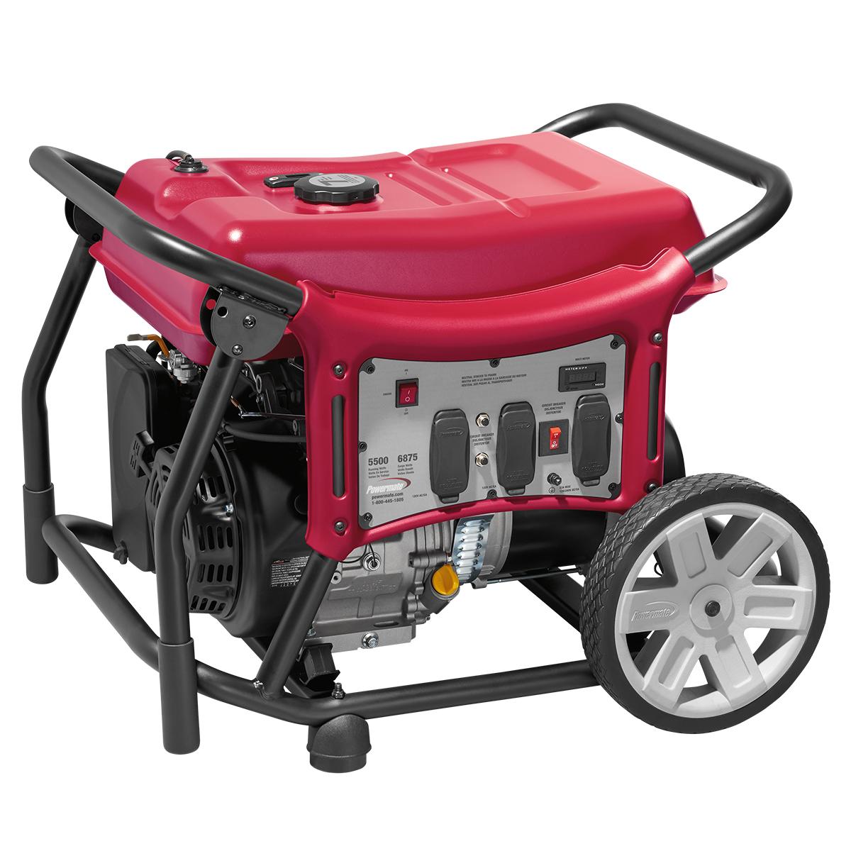 Powermate 5500 Watt Portable Generator, CARB - PMC145500