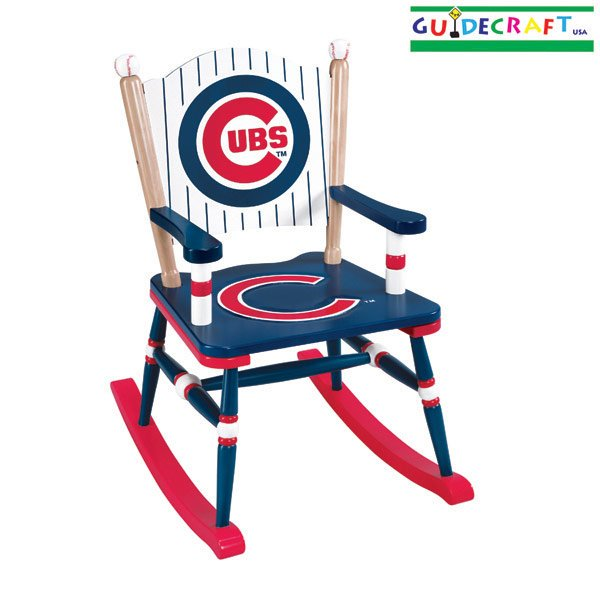 Guidecraft MLB Chicago Cubs Kids Baseball Rocking Chair
