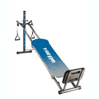 Total Gym Optima Full Body Workout Home Fitness Folding Exercise Machine, Blue