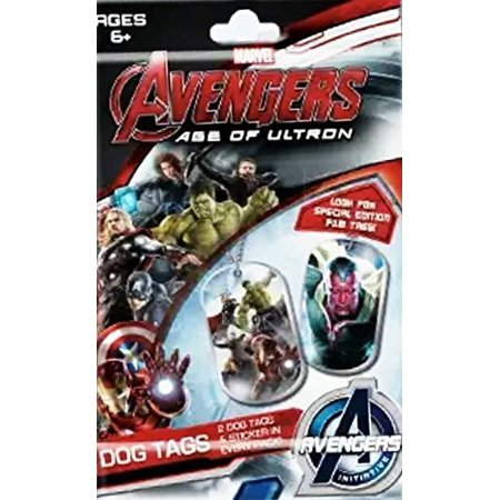 Marvel Avengers: Age of Ultron 5 Collectible Dog Tags & Sticker Packs
