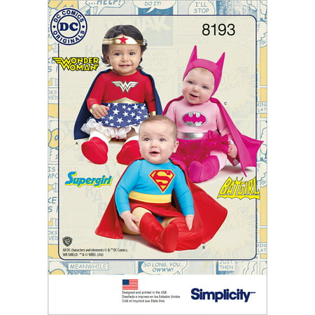 Simplicity Babies Super Hero Costumes, 1 Each](Famous People Costumes)
