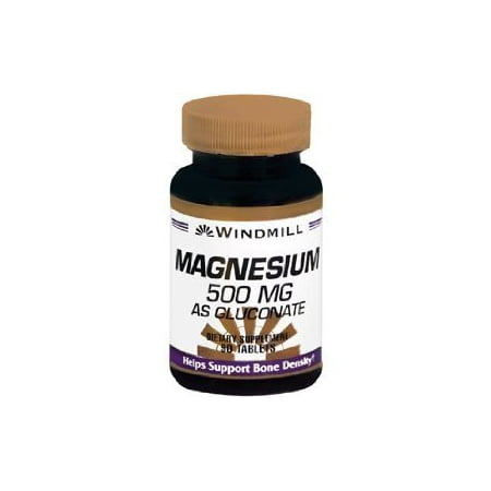 - Windmill Magnesium Gluconate 500 Mg Tabs 90'S