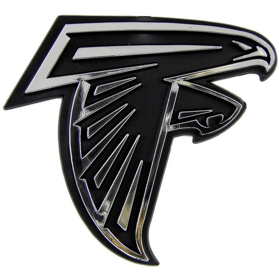 NFL Atlanta Falcons Chrome Automobile Emblem