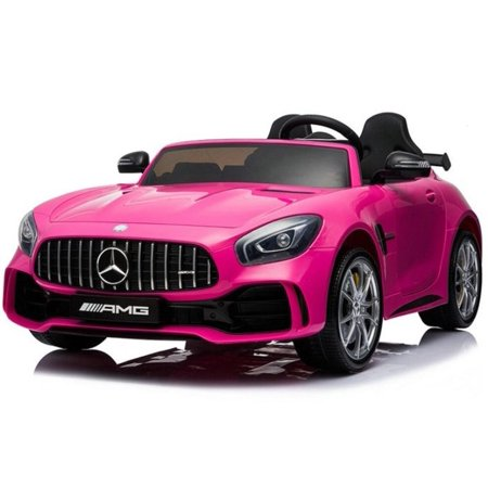 2 Seater 12V powered Mercedes ride on car 4WD for kids Remote Control LED lights Opening doors MP3 - Pink Dodge Four Wheel Drive