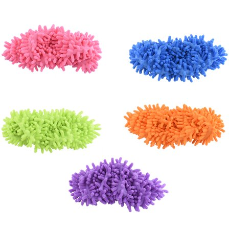 Multi-Function Dust Duster Mop Slippers Shoes Cover, Soft Washable Reusable Microfiber Foot Socks Floor Cleaning Tools Shoe Cover , Pink](Pink Feather Duster)