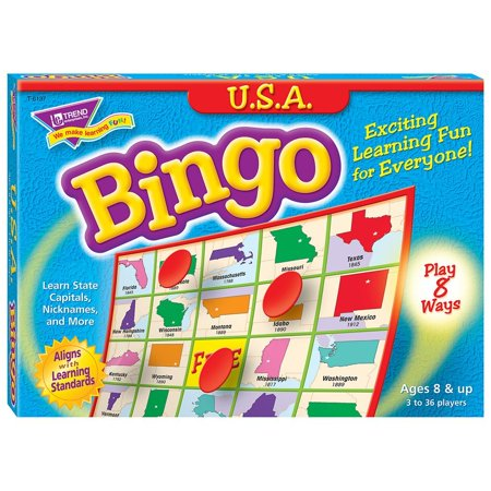 U.S.A. Bingo Game, Perfect for middle-schoolers and adults. By Trend Enterprises Inc - Bingo Bags For Sale