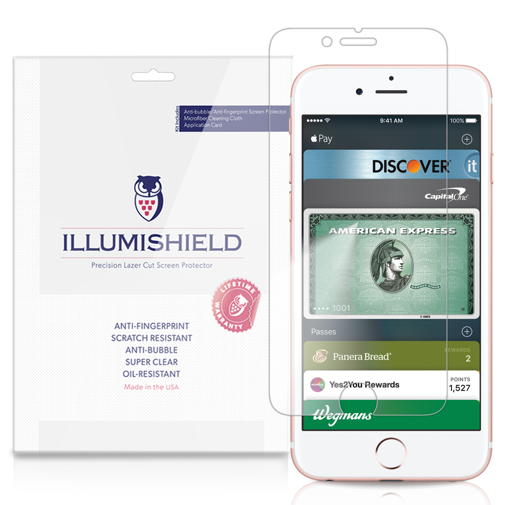 iLLumiShield Screen Protector w Anti-Bubble/Print 3x for Apple iPhone 6S