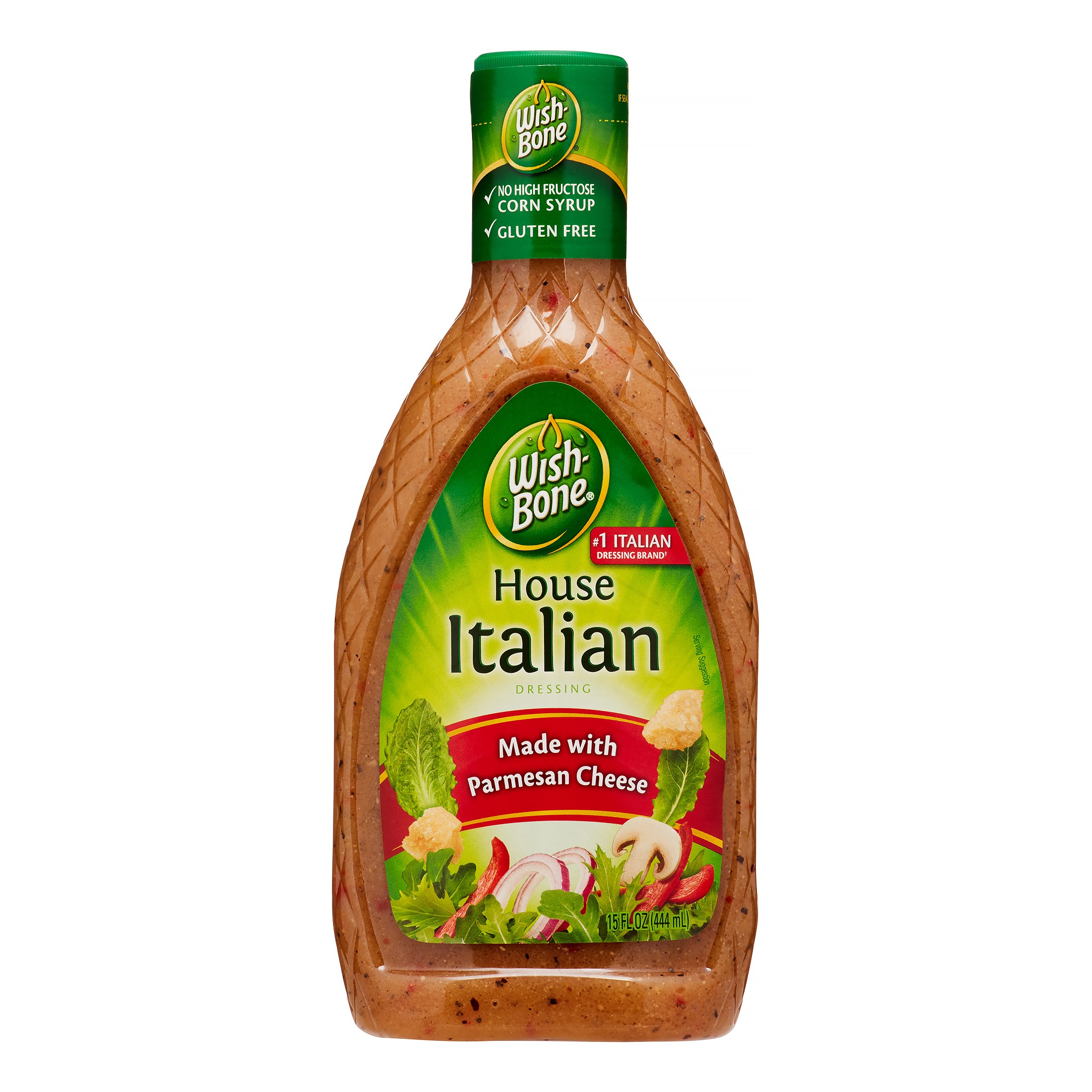 (3 Pack) Wish-Bone Salad Dressing, House Italian, 15 Fl Oz