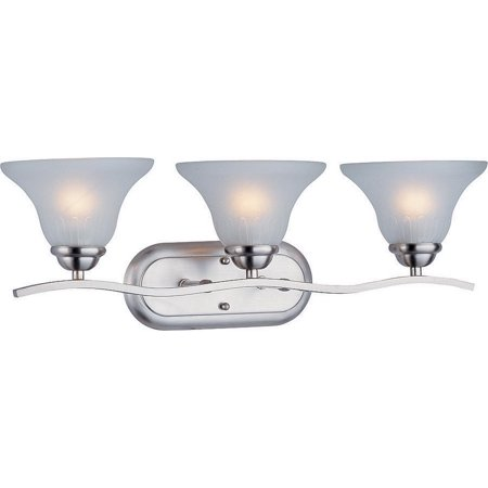 Boston Harbor Dimmable Vanity Light Fixture, (3) 60/13 W, Medium, A19/Cfl Lamp, Brushed Nickel