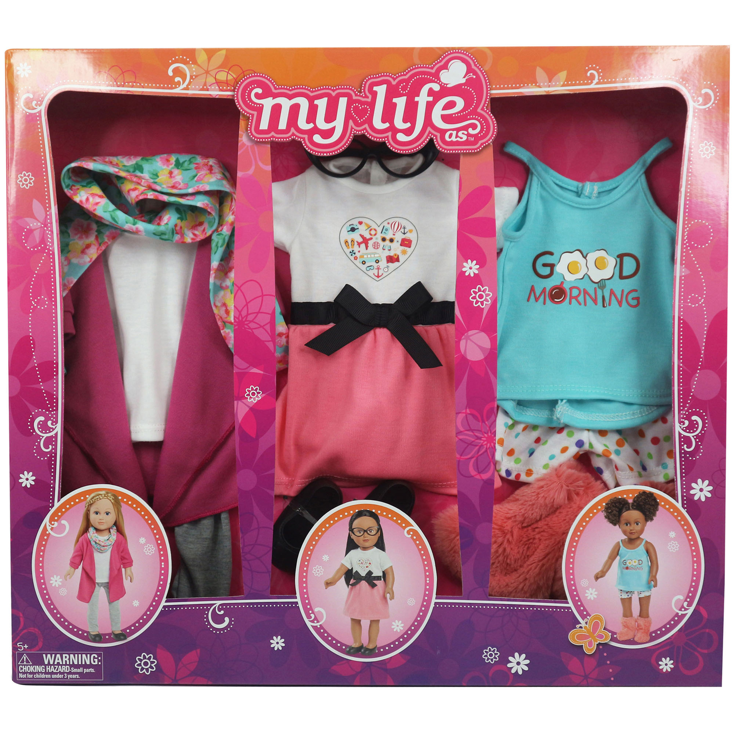 My Life As - Day in the Life Clothing Set for 18in Doll - Traveler