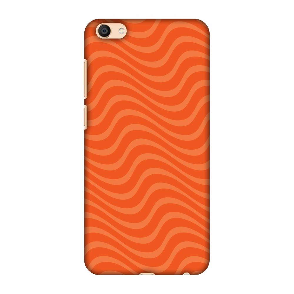 Vivo X7 Case, Premium Handcrafted Printed Designer Hard Snap on Shell Case Back Cover for Vivo X7 - Carbon Fibre Redux Tangy Orange 10
