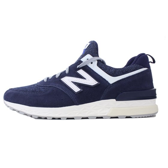 hot sale online e5035 db8cb NEW BALANCE 574 SPORT SZ 10 NAVY BLUE SUEDE OFF WHITE 574S FRESH FOAM  MS574BB