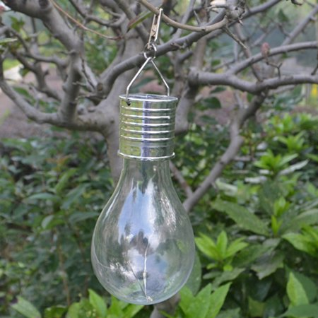 Led Light Bulb With Clip Outdoor Solar Energy Courtyard Lawn Light Decorative Lamp Yellow Light