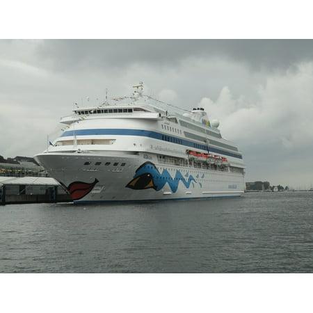 Canvas Print Sky Blue Kiel Ships Baltic Sea Cruise Water Stretched Canvas 10 x