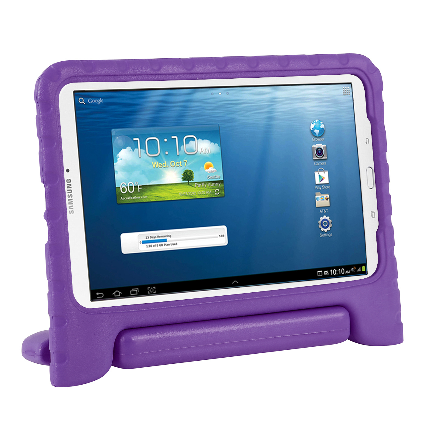 HDE Kids Shockproof Case for Samsung Galaxy Tab E 9.6 Inch Protective Cover Handle Stand (Blue)
