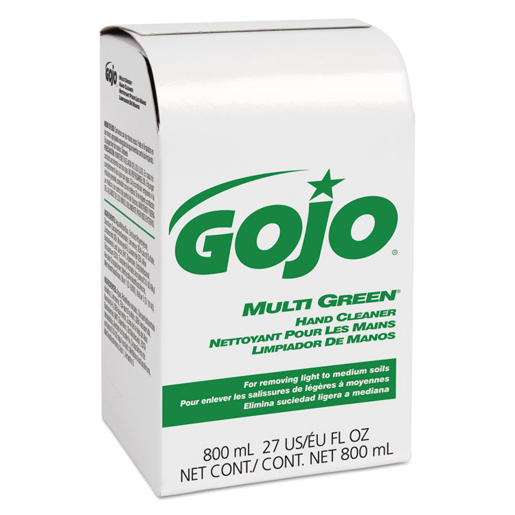 MULTI GREEN Hand Cleaner 800mL Bag-in-Box Dispenser Refill
