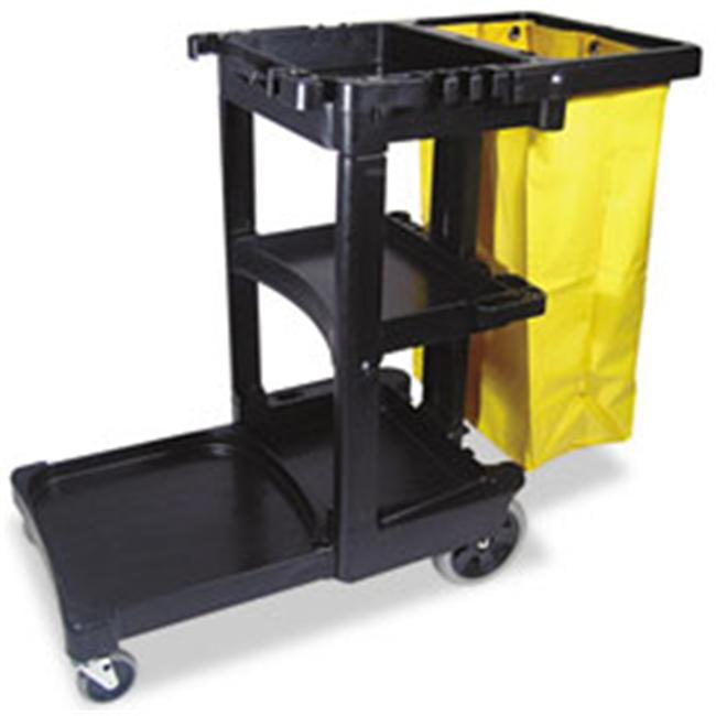 Rcp 617388BK Multi-Shelf Cleaning Cart  3-Shelf  20w x 45d x 38-1/4h  Gray