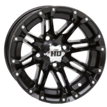 "STI HD3 Black 10"" Wheels and Slasher GTX SPORT 205/50-10 DOT Tires Combo - Set of 4"