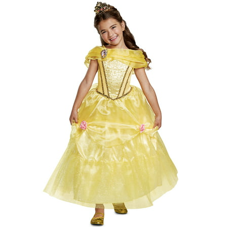 Belle Deluxe Child Costume - Belle Gaston Halloween Costumes