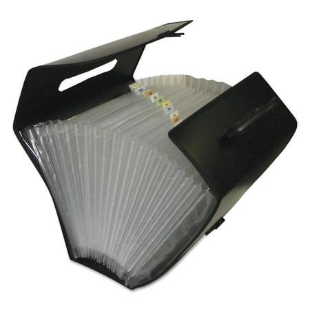 C-Line Specialty Expanding Files, Legal, 21-Pocket, Black -
