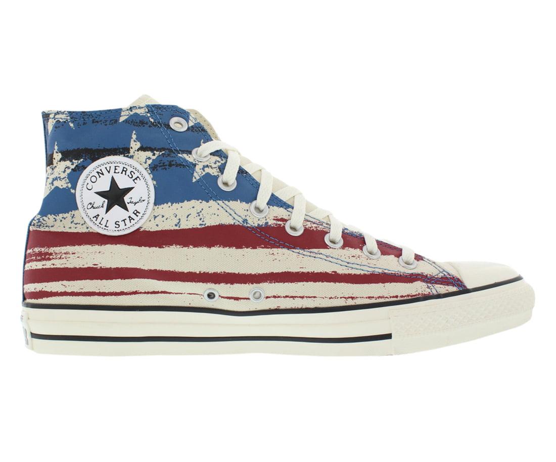 Converse Chuck Taylor All Star Hi USA Flag Print Shoes Size