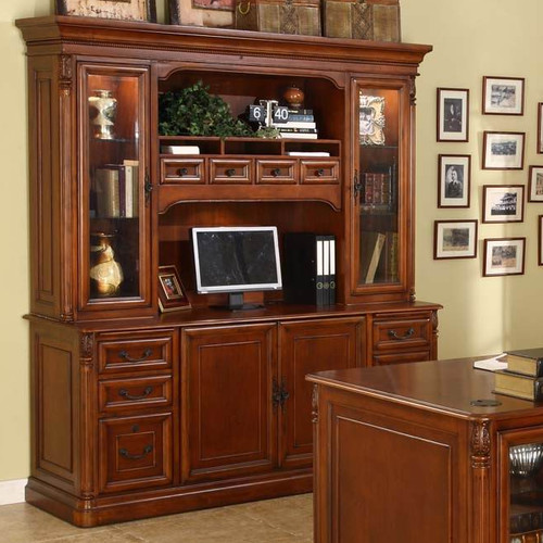 Wildon Home  Keegan Credenza Desk with Hutch
