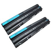 Replacement For Dell 312-1242 / 37HGH 4400mAh Laptop Battery 2 Pack