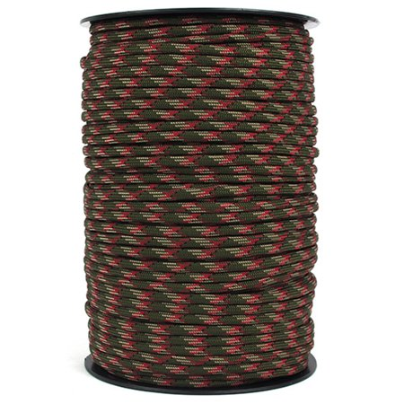 100M 550 Type Parachute Cord Paracord Lanyard Rope 9 Strand Cores Rescue Tent Hiking Rope Roll