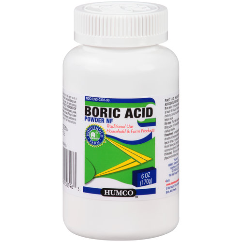 Humco Boric Acid Powder, Insecticide For Roaches, Ants and Other Small Insects - 6 oz