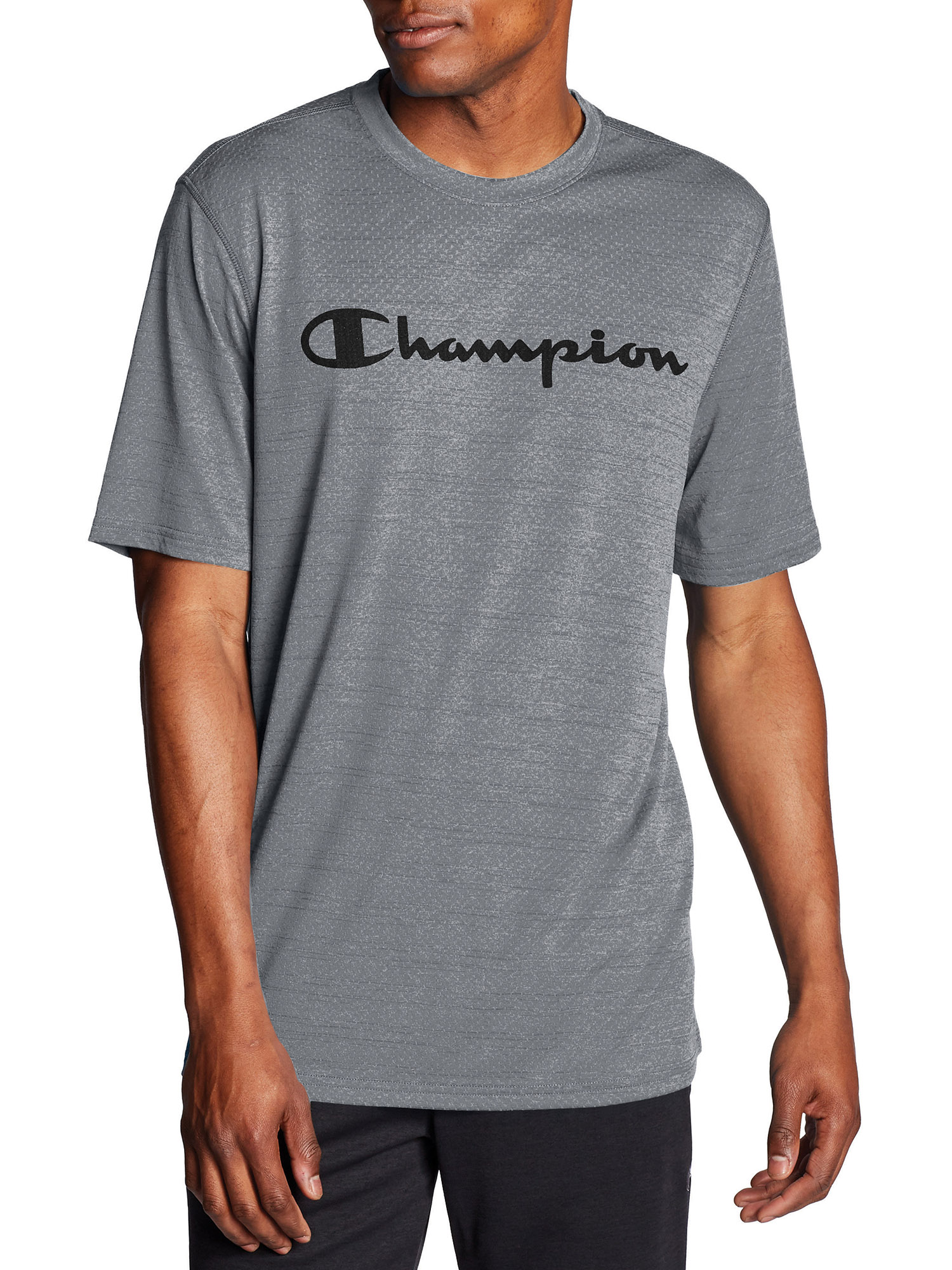Champion Men/'s Graphic Champion Tee Gray 2XL