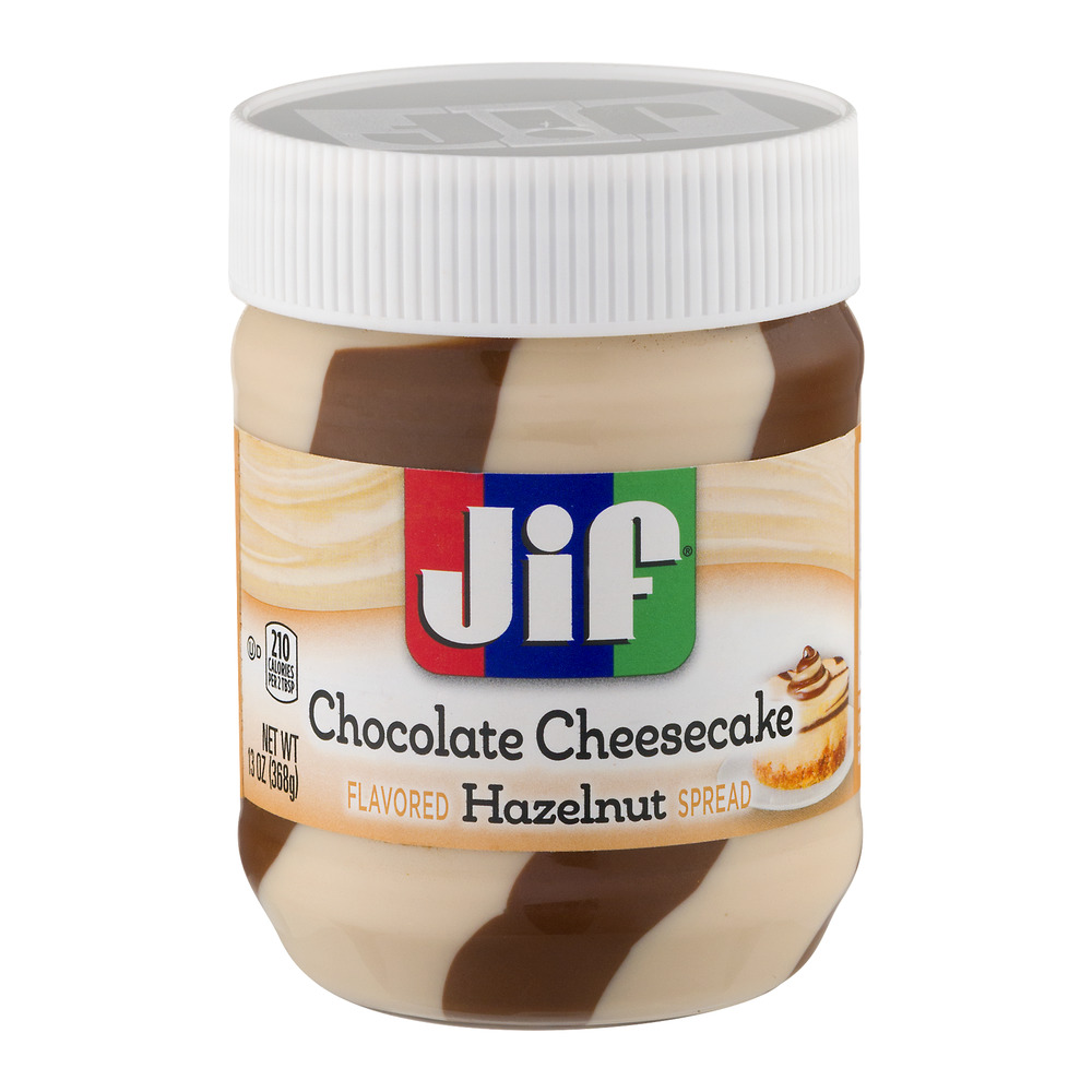 (3 Pack) Jif Chocolate Cheesecake Hazelnut Spread, 13-Ounce