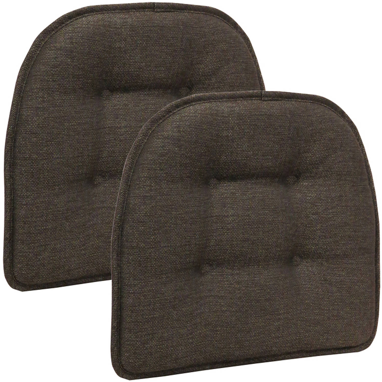 "Gripper Non-Slip 15"" x 16"" Omega Tufted Chair Cushions, Set of 2"