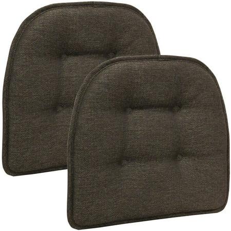 Cushion Chestnut Brown Sunbrella - Gripper Non-Slip 15