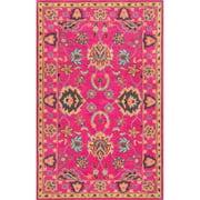 nuLOOM Vibrant Adileh Hand-Tufted Pink Area Rug