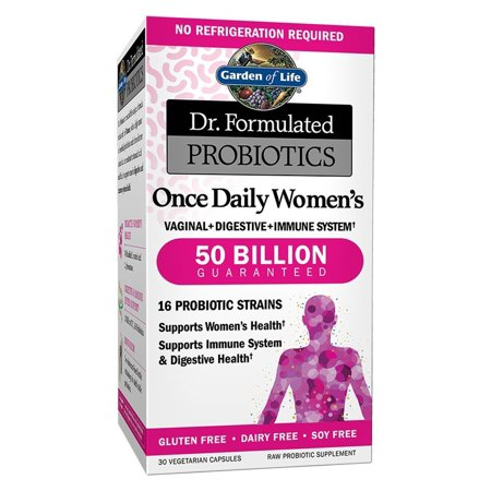 Garden Of Life Dr. Formulated Once Daily Women.Probiotics 50 Billion Cfu, 30 Shelf Stable Capsules, Gluten Dairy & Soy Free Prebiotic Fiber Digestion Support Supplement, No
