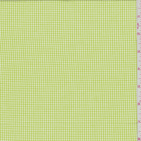 Bright Lime Gingham Check Cotton Shirting, Fabric By the Yard