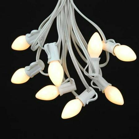Novelty Lights C7 Ceramic Christmas Lights Set Indoor