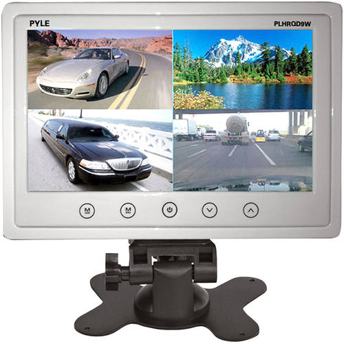 Pyle 9'' Video Display Monitor, Quad View (4) Source Zone Display, Multiple Source